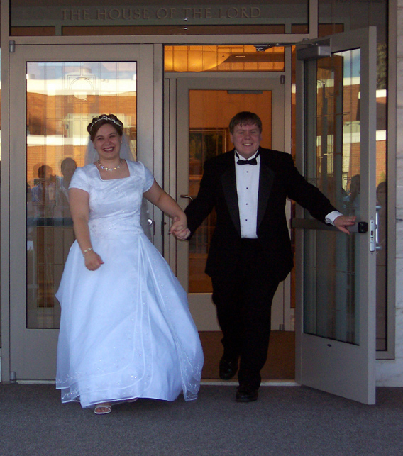 They were wed on Friday at the LDS Temple in Detroit